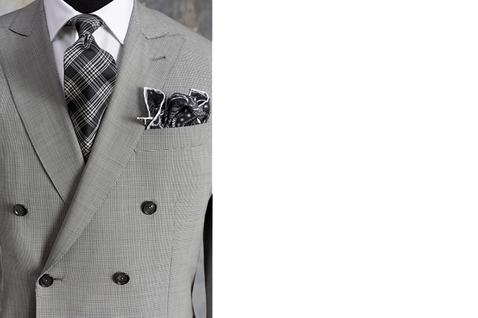 Grey Custom Mens Suit